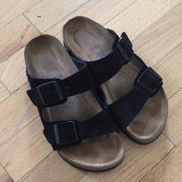 af4c5472d Birkenstock Shoes - Birkenstock Arizona Soft Footbed Black Suede 35N